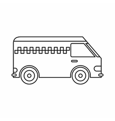 Minibus taxi icon outline style vector