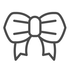 minimalistic bow line icon festive knot vector image