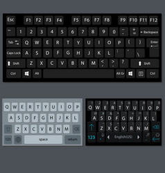 modern smartphone and desktop keyboard vector image