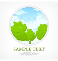 Nature in round vector image