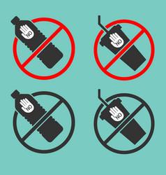 no plastic bottle cup background vector image