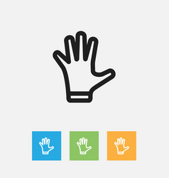 Of shopping symbol on gloves vector