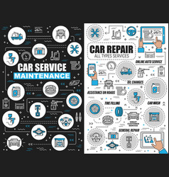 online service car repair and oil change vector image
