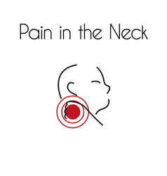 pain in neck linear icon young man vector image