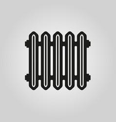 Radiator icon heater and heating heat symbol vector