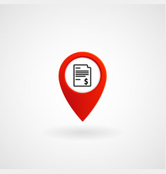 red location icon for bill payment center eps vector image