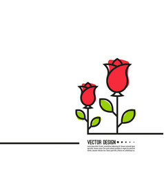 roses with red buds vector image