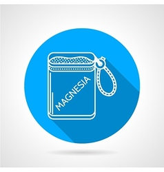 Round icon for magnesia bag vector
