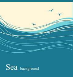Sea wave background for text vector
