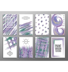Set of artistic creative universal cards Paint vector