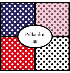 Set of polka dot patterns vector
