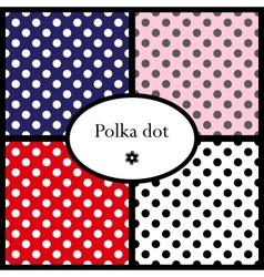 set polka dot patterns vector image