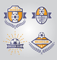 soccer isolated emblems or logos part 2 vector image