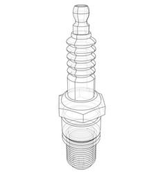 Spark plug concept vector
