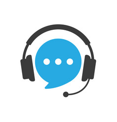 speech bubble with headphones vector image