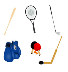 sport inventory set vector image