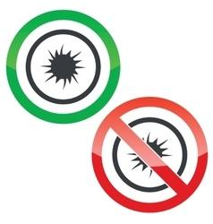 Starburst permission signs vector