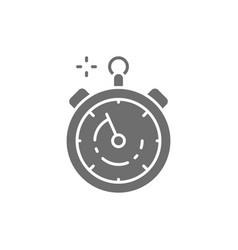 Stopwatch timer watch gray icon isolated on vector