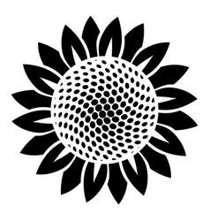 Sunflower icon simple style vector