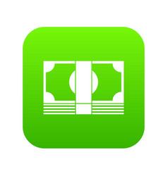 Swiss franc banknote icon digital green vector