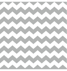 Tile chevron pattern with white and grey zig zag vector