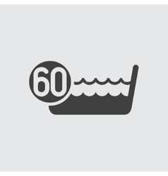 Wash below or at 60 degrees icon vector image