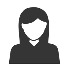 Woman girl female hair person face head icon vector