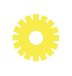 Yellow gear symbol process industry vector