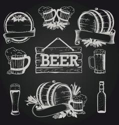 beer set 2 vector image