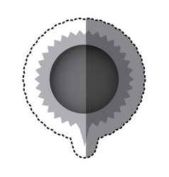 grayscale sticker with circular speech with vector image vector image