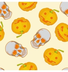 Halloween seamless bright kids cartoon pattern vector image vector image