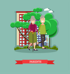 Parents concept in flat style vector