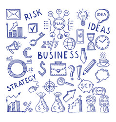 sketches at business theme creative vector image