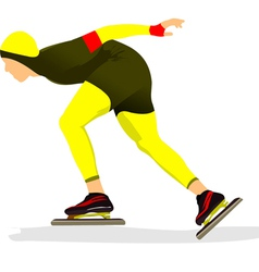 al 0340 skating 04 vector image vector image