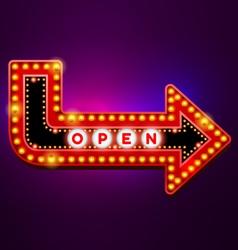 arrow light neon sign vector image