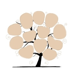 Art tree with papers for your text vector image vector image