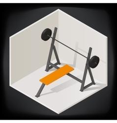 Bench press isometric vector image