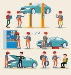 car service elements set vector image