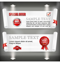 Paper scroll with award sign vector image vector image