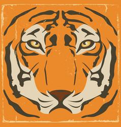 vintage tiger stripes on grunge background vector image