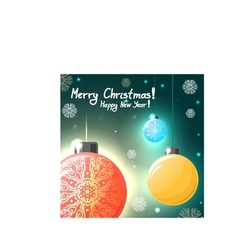 Christmas card with colorful balls eps10 vector image