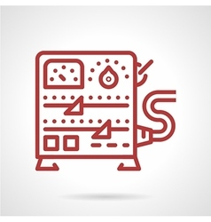 Power supply equipment line icon vector image