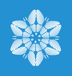 round snowflake icon simple style vector image