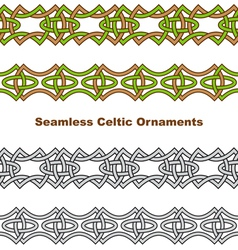 Seamless celtic borders vector image vector image