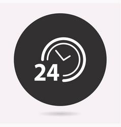 24 hour service - icon vector image