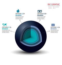 3d circle infographics set element infographic vector image