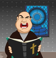 angry priest vector image