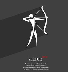Archery symbol Flat modern web design with long vector image