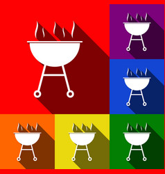 barbecue simple sign set of icons with vector image