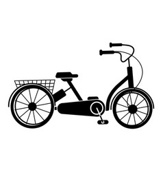bike tricycle icon simple style vector image